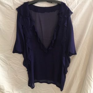 Flowy Purple Silk Top